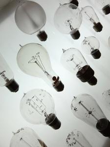 Old Light Bulbs, Dibner Hall, History of Science, Huntington Library, Pasadena, California, Usa by Bruce Yuanyue Bi