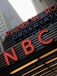 Sign of NBC News at the Rockefeller Center, New York City, New York, Usa by Bruce Yuanyue Bi