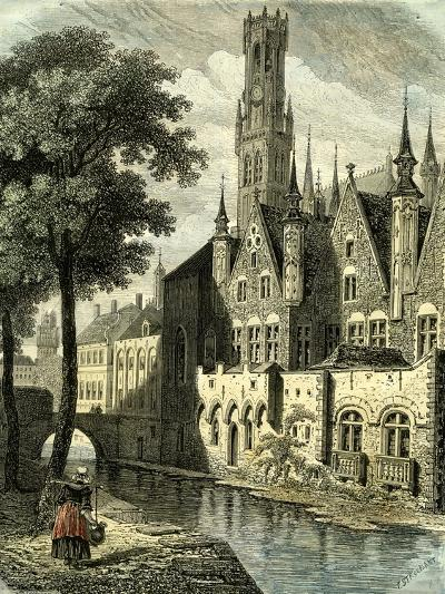 Bruges Belgium--Giclee Print