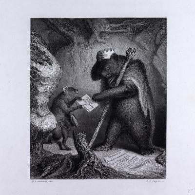 Bruin as King--Giclee Print