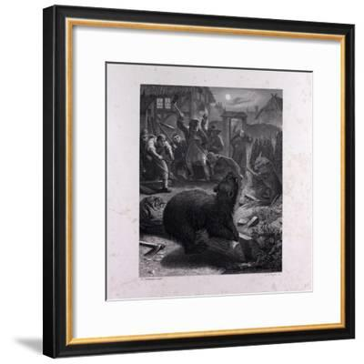 Bruin in the Trap--Framed Giclee Print