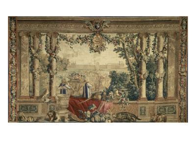 Les Maisons royales. Octobre, signe du Scorpion : promenade de Louis XIV en vue du château des