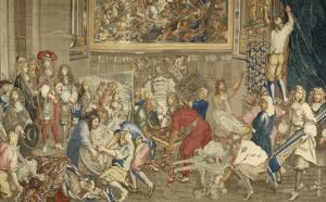 Visit of Louis Xiv at the Gobelins, October 15, 1667 by Brun Charles Le
