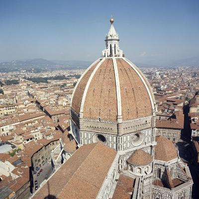 Brunelleschi's Dome in Cathedral of Santa Maria Del Fiore or Basilica of St Mary of Flower--Giclee Print
