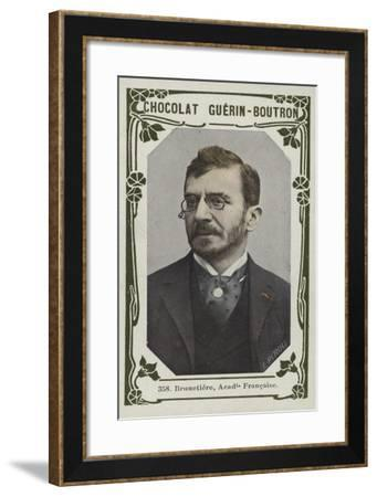 Brunetiere, Academie Francaise--Framed Giclee Print