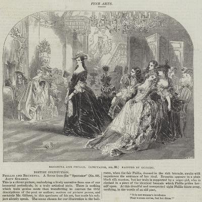 Brunetta and Phillis, Spectator, No 80-Sir John Gilbert-Giclee Print