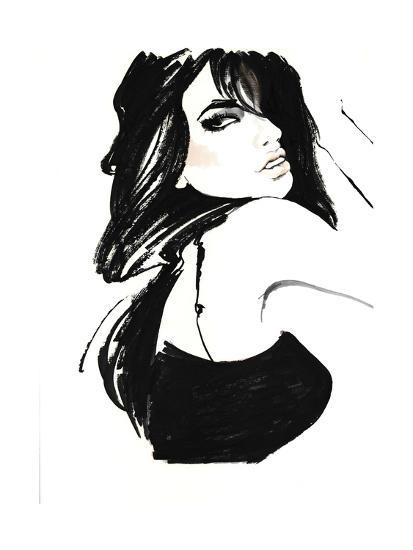 Brunette 1-FS Studio-Giclee Print