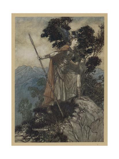 Brunnhilde-Arthur Rackham-Giclee Print