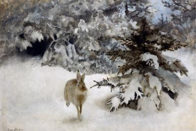 A Hare in the Snow, 1927