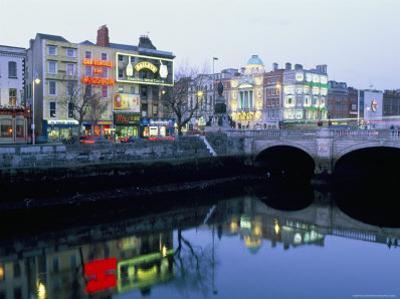 Aston Quay, Liffey River, Dublin, County Dublin, Eire (Ireland) by Bruno Barbier