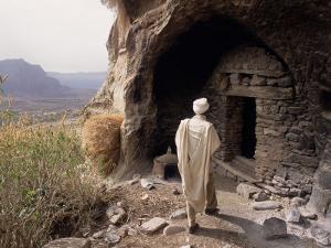 Christian Monastery Church, Gabriel Wuken, Mount Workamba, Tambien, Tigre Provice, Ethiopia, Africa by Bruno Barbier