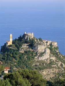 Eagle's Nest Village of Eze, Alpes-Maritimes, Cote d'Azur, Provence, French Riviera, France by Bruno Barbier