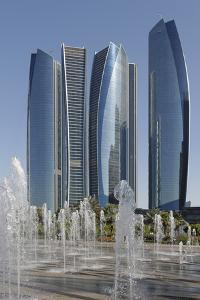 Etihad Towers, Abu Dhabi, United Arab Emirates, Middle East by Bruno Barbier