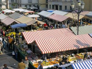 Flower Market, Cours Saleya, Nice, Alpes-Maritimes, Provence, France by Bruno Barbier