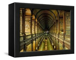 Gallery of the Old Library, Trinity College, Dublin, County Dublin, Eire (Ireland) by Bruno Barbier