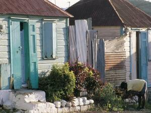Houses in the Old Colonial Quarter, St. John's, Antigua, Leeward Islands by Bruno Barbier