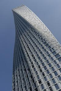 Infinity Tower Features 495 Apartments in a Helical Shape That Swivels 90 Degrees from Base to Top by Bruno Barbier