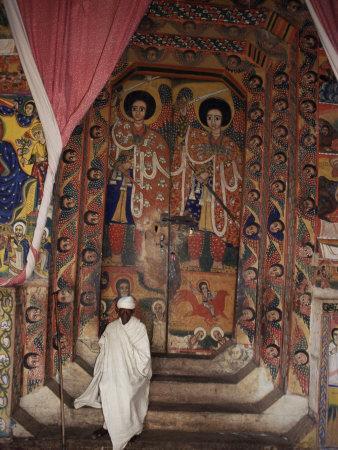 Interior of the Christian Church of Ura Kedane Meheriet, Zege Peninsula, Lake Tana, Ethiopia