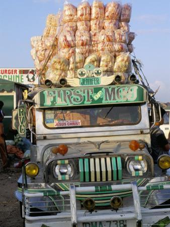 Jeepney, Port of Lucena, Southern Area, Island of Luzon, Philippines, Southeast Asia by Bruno Barbier