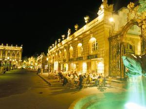Place Stanislas at Night, Nancy, Meurthe-Et-Moselle, Lorraine, France by Bruno Barbier