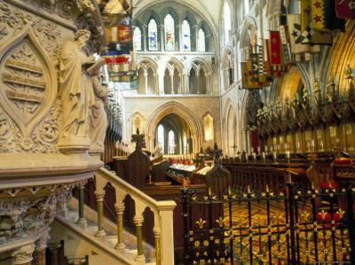 The Choir and Banners, St. Patrick's Cathedral, Dublin, County Dublin, Eire (Ireland) by Bruno Barbier