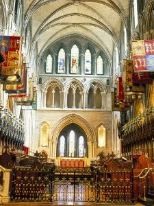 The Choir and Banners, St. Patrick's Catholic Cathedral, Dublin, County Dublin, Eire (Ireland) by Bruno Barbier