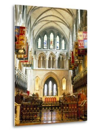 The Choir and Banners, St. Patrick's Catholic Cathedral, Dublin, County Dublin, Eire (Ireland)