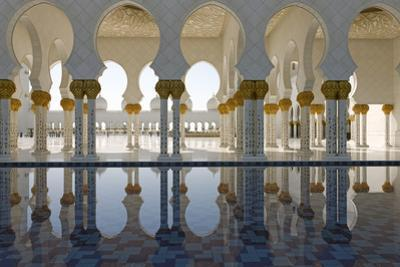 The Sheikh Zayed Grand Mosque, Abu Dhabi, United Arab Emirates, Middle East by Bruno Barbier