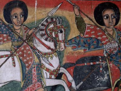 Wall Paintings in the Interior of the Christian Church of Ura Kedane Meheriet, Lake Tana, Ethiopia