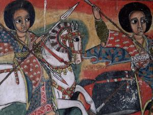 Wall Paintings in the Interior of the Christian Church of Ura Kedane Meheriet, Lake Tana, Ethiopia by Bruno Barbier