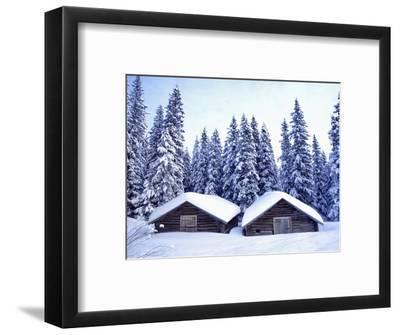 Barn in Lapland in Winter