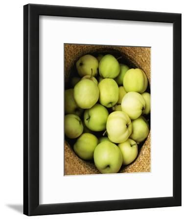 Green Apples in a Straw Hat