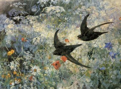 Swifts, 1886 by Bruno Liljefors