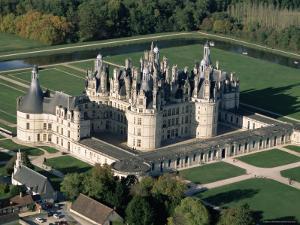 Aerial View of the Chateau of Chambord, Loir Et Cher, Region De La Loire, Loire Valley, France by Bruno Morandi