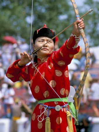 Archery Contest, Naadam Festival, Oulaan Bator (Ulaan Baatar), Mongolia, Central Asia