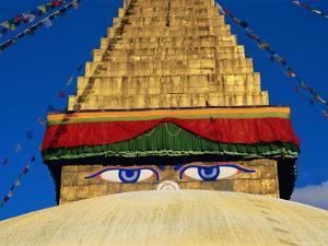 Buddhist Stupa, Bodnath (Bodhnath) (Boudhanath), Kathmandu Valley, Nepal, Asia by Bruno Morandi