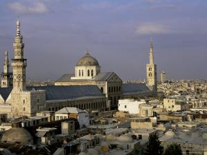 City Skyline Including Omayyad Mosque and Souk, Unesco World Heritage Site, Damascus, Syria by Bruno Morandi