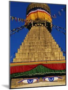 Close up of the Buddhist Stupa at Bodnath (Bodhnath) (Boudhanath), Kathmandu Valley, Nepal, Asia by Bruno Morandi