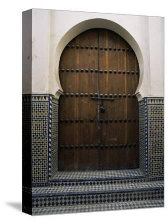 Door in the Quartier Des Andalous, Medina, Fes El Bali, Fez, Morocco, North Africa, Africa