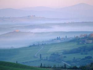 Early Morning Landscape Near Pienza, Siena, Tuscany, Italy by Bruno Morandi