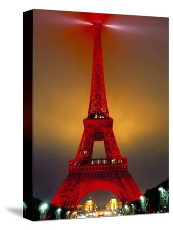 Eiffel Tower Decorated for Chinese New Year, Paris, France