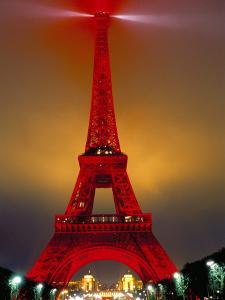 Eiffel Tower Decorated for Chinese New Year, Paris, France by Bruno Morandi