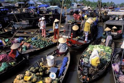 Floating Market of Cai Rang, Can Tho, Mekong Delta, Vietnam, Indochina, Southeast Asia, Asia by Bruno Morandi