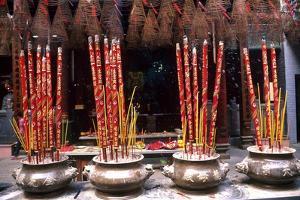 Incense, Quan Am Pagoda by Bruno Morandi
