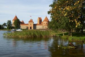 Island Castle of Trakai Near Vilnius, Lithuania, Europe by Bruno Morandi