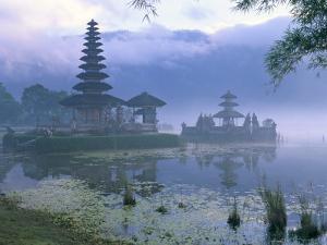 Pura Ulun Temple, Danu Bratan, Island of Bali, Indonesia, Southeast Asia by Bruno Morandi