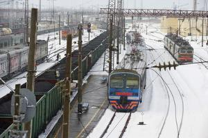 Railway Station on the Trans-Siberian Line, Balezino, Udmurtia, Russia, Europe by Bruno Morandi