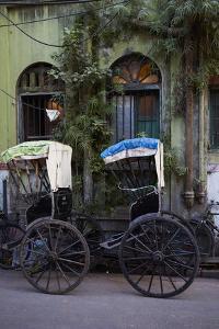 Rickshaw on the Street, Kolkata (Calcutta), West Bengal, India, Asia by Bruno Morandi