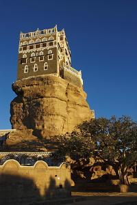Rock Palace (Dar Al Hajar), Wadi Dhar, Yemen, Middle East by Bruno Morandi