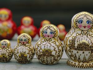Russian Dolls, Siberia, Russia by Bruno Morandi